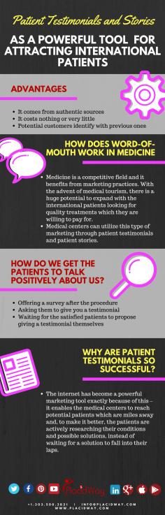 Infographics: Patient Testimonials and Stories Attracting International Patients